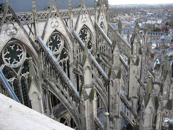 Physical Demonstration Of Flying Buttresses In Gothic